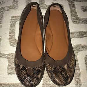 Banana Republic Snake Skin Print Flat Shoes